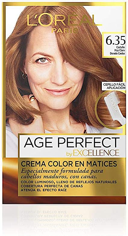 EXCELLENCE Age perfect tinte Castaño muy Claro Nº 6.35 caja 1 ud