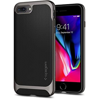 Spigen Neo Hybrid Designed for Apple iPhone 8 Plus Case (2017) / Designed for iPhone 7 Plus Case (2016) - Black & Gunmetal