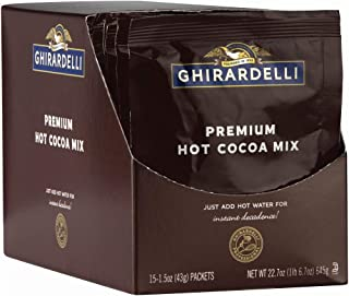 Ghirardelli Premium Indulgence Hot Cocoa Mix, 1.5 oz (Pack of 15)