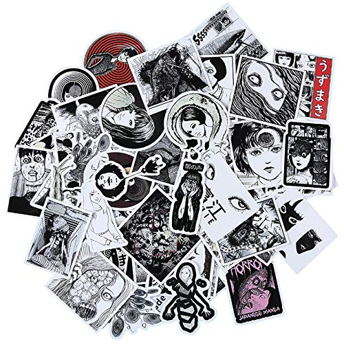 WOKAO Ito Run Two Stickers Fujiang Vortex Dark Wind Skateboard Mobile Phone Stickers Draw Notebook Suitcase Stickers 55Pcs