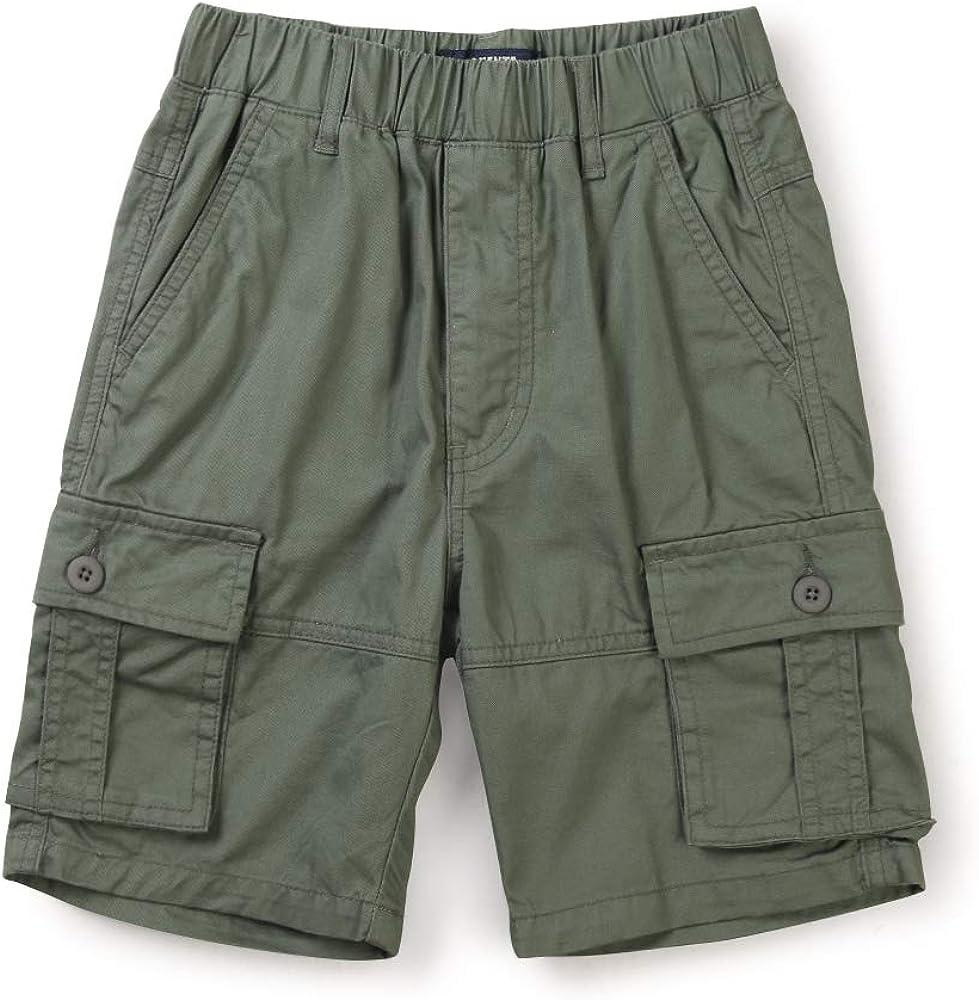 OCHENTA Boy's Lightweight Pull on Cargo Shorts, Athletic Casual Slacks