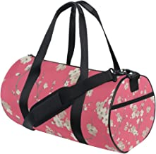 FANTAZIO Gym Duffel Bag Rood Plum Blossom Patroon Mens Gym Duffel Bag