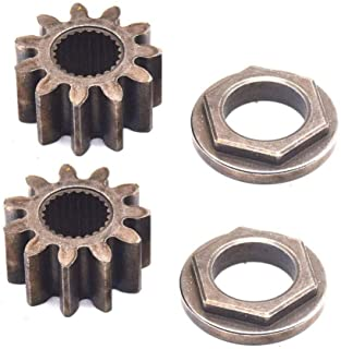 Ohoho 2 x Pack Steering Shaft Pinion Gear & Bushing Kit Replacement for MTD 717-1554 941-0656A 741-0656 Fits Toro 112-0863