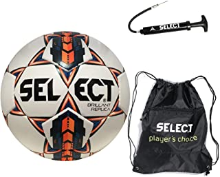 Select Brilliant Super Replica Soccer Ball with Sack Pack & Hand Pump
