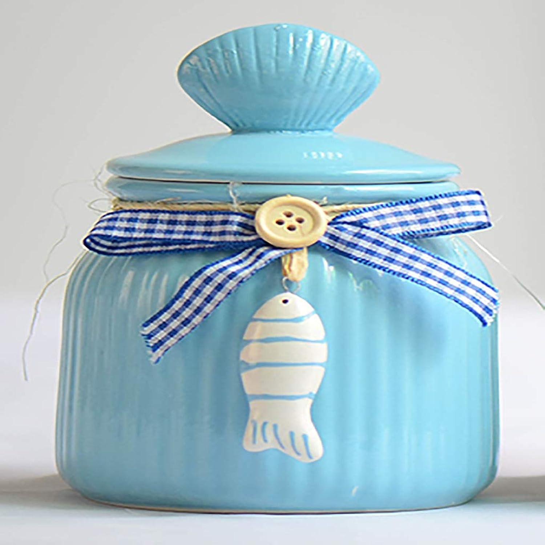 North cool Pet Urn Box Jar Dog Cat Pet Cremation Euthana Funeral Supplies Moisture (color   bluee)