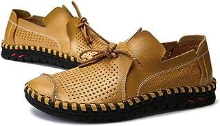 ruoruo - Mocasines para Hombre de Calidad, tamaño Grande, 38-50, Zapatos Casuales de Piel Huecos, Transpirables, para Verano, para Hombre