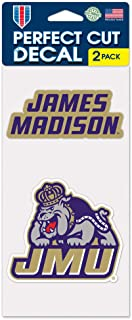 James Madison JMU Dukes Set of 2 4x4 Decals