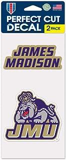 James Madison JMU Dukes Set of 2 4x4 Decals