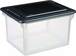 STERILITE File Box Clear Base With Black Lid
