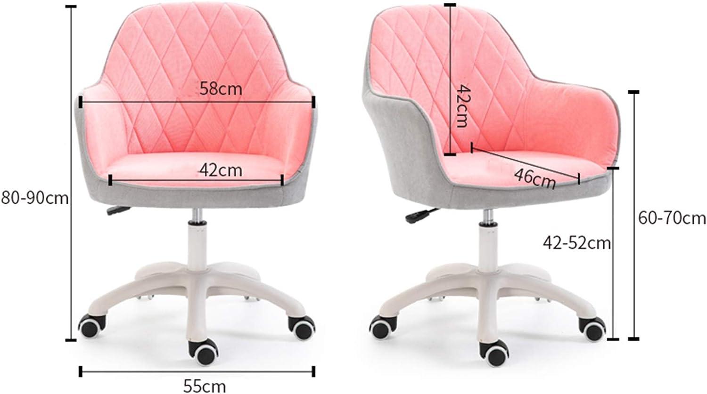 YF-Barstool Chaises de Bureau Chaise de Bureau Chaise de Bureau d'ordinateur - Support Lombaire Ergonomique à Dossier Moyen avec Roues, Hauteur réglable Chaises de Gamer Blue