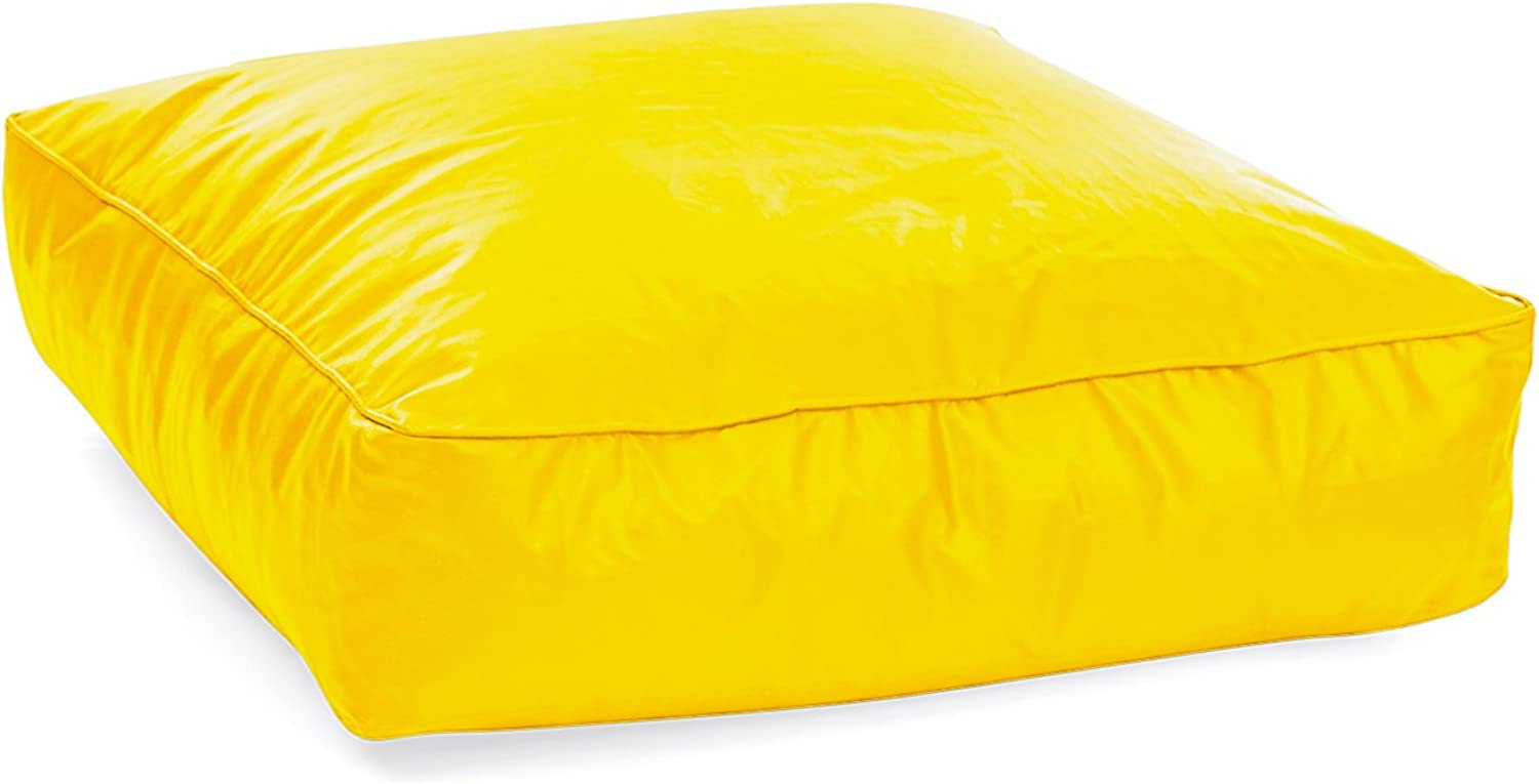 Style Homez Classic Square Floor Cushion XXL size Yellow color Cover Only