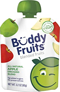 Buddy Fruits Pure Blended Fruit To Go Apple Orchard Blend Applesauce | 100% Real Fruit | No Sugar, Non GMO, Vegan, Gluten ...