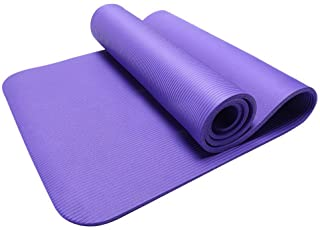 IZHH Yoga Exercise Mats for Womens,Thick Durable Yoga Mat Non-Slip Exercise Fitness Pad Mat Lose Weight,10 MM Super Thick (Purple)