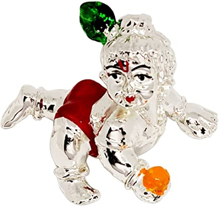 Incredible Gifts India 999 Silver Plated Laddu Gopal (Silver, 7X5.5X4.5Cm)