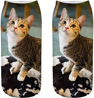 Womens Casual Novelty Cute Socks No Show 3D Crazy Animal Cartoon Printed Print Ankle Socks by aihihe