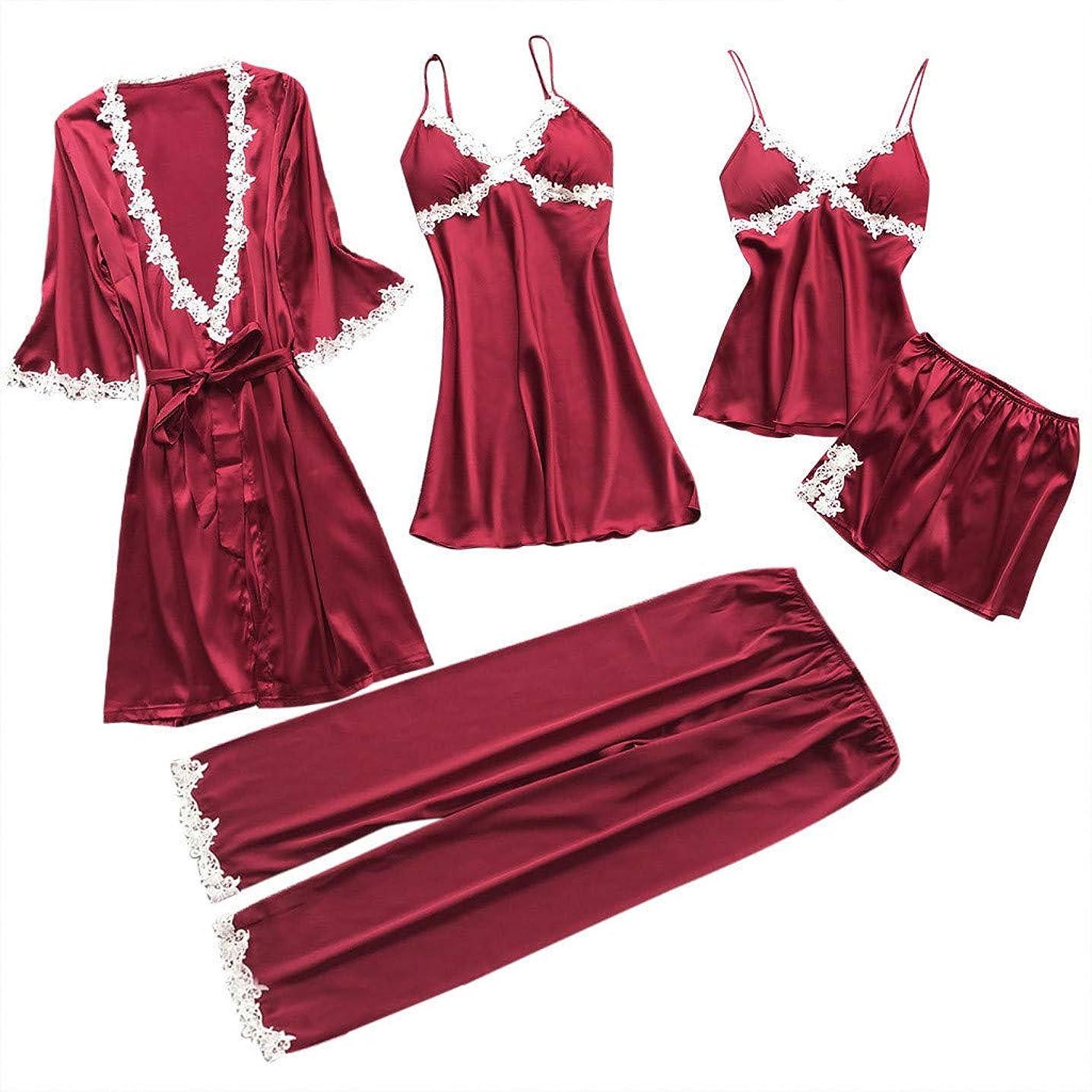 Women Lace Lingerie,Fitfulvan Sexy Nightwear Underwear Babydoll Sleepwear Dress 5PC Suit