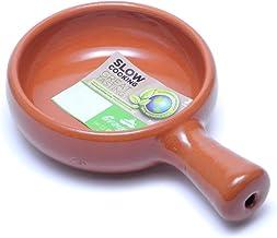 スペイン製 アヒージョ鍋 カスエラ 浅型 片手鍋 13cm 耐熱 陶器製 一人用 土鍋 直火 オーブン Graupera