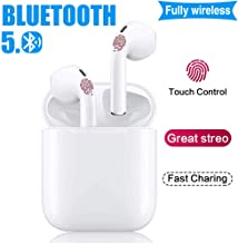 Full Wireless Bluetooth Earbuds Wireless Bluetooth Headset Pop-up Pairing Waterproof Noise Reduction [with 24-Hour Charging Box] Sports earplugs for Quick Connection to Samsung/iPhone/Apple Airpod (A)