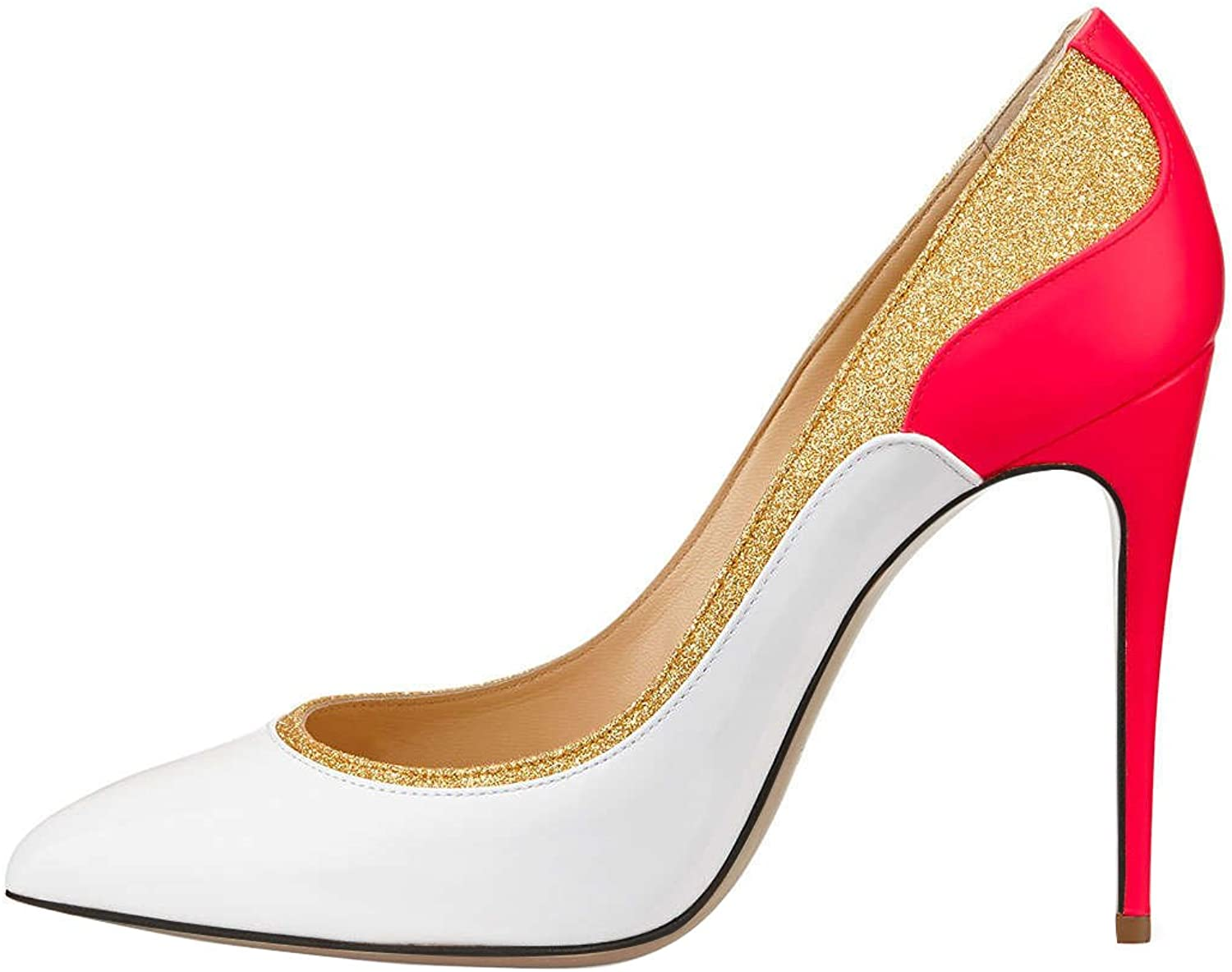 QianZuLian Womens Fashion Pointed Toe High-Heels Three color Pumps