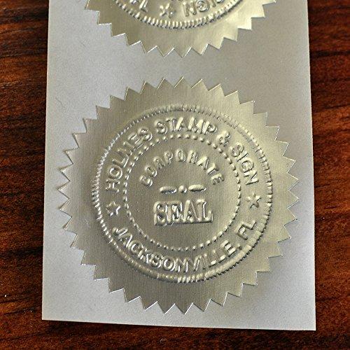 Blank Certificate Seal - Silver