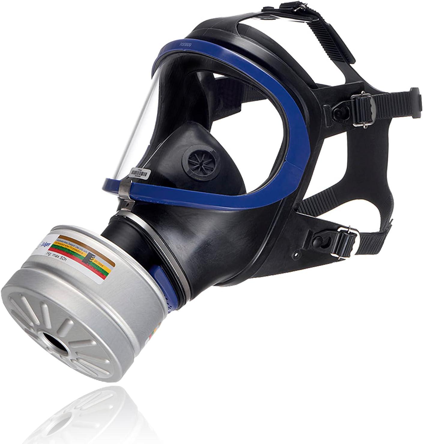 Dräger X-plore® 6300 Máscara Facial Completa con Filtro A2B2E2K2 HG P3 R D de Rosca Rd40 | Respirador antigás para Trabajos químicos y de construcción
