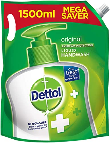 Dettol Original Germ Protection Handwash Liquid Soap Refill 1500Ml