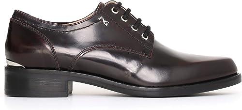 Nero giardini scarpe stringate donna in pelle A719440D