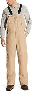 Men's Fr Insulated Overall Bib Khaki Size Medium
