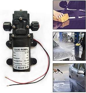 55PSI Druckwasserpumpe Selbstansaugende Membranpumpe Wasserpumpe Pumpen Schwarz