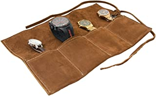 leather watch roll pouch