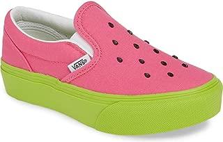 Vans Classic Slip-ON Platform Youth (Watermelon) Carmine Rose/Lime Green