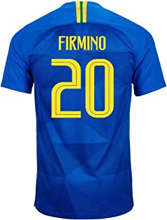 Nike FIRMINO #20 Brasil CBF Men's Soccer Jersey 2018 Stadium Away World Cup 2018