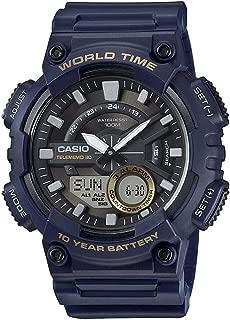 Casio Sport Watch Analog-Digital Display For Men Aeq-110W-2Avdf, Blue Band