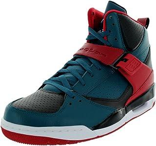 Jordan Nike Men's Flight 45 High Dark Sea/White/Black/Gym Red Basketball Shoe