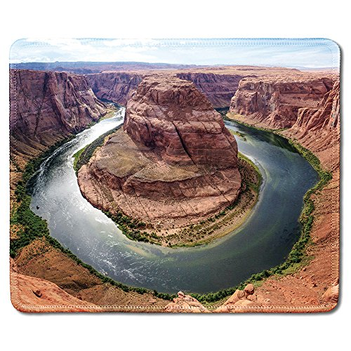 dealzEpic - Art Mousepad - Natural Rubber Mouse Pad Printed with Horseshoe Bend in Grand Canyon,Arizona - Stitched Edges - 9.5x7.9 inches