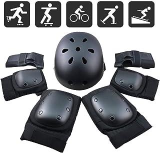 FUCNEN Sport Safety Gear Guard Set ajustable codo muñeca rodilleras y casco para niños, adolescentes y adultos