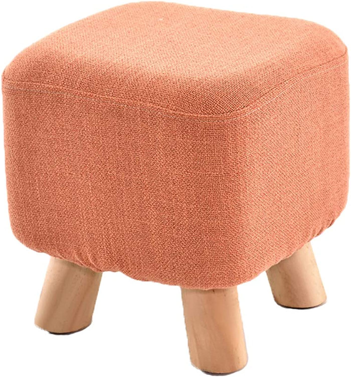 HLJ Personality Fashion Sofa Stool Simple Home Stool Comfortable Adult shoes Bench Creative Solid Wood Stool
