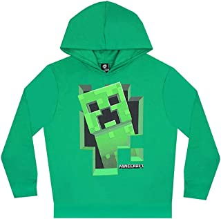 Minecraft Creeper Inside Boy's Green Hoodie