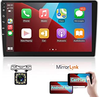 """$145 » Podofo Double Din Android Car Stereo Compatible with Apple CarPlay and Android Auto, 10"""" HD Touch Screen 2 Din Car Audio R..."""