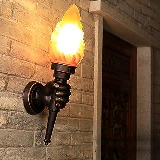 Tritow Am/éricain R/étro Lampe Murale Creative Bar Restaurant Nostalgique D/écoration Caf/é All/ée Torche Lumi/ère Murale Ext/érieur Applique Murale Taille : Left Hand