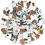 PMSMT Cute Dibujos Animados Panda Oso Polar Unicornio Pegatina Estudiante Diario Escolar...