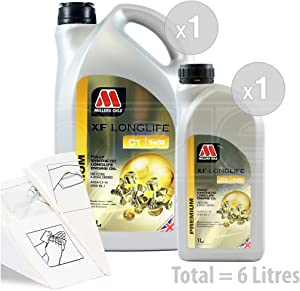 Millers Oils Longlife 5w-30 Fully synthetic low SAPS engine oil Service Pack  litres