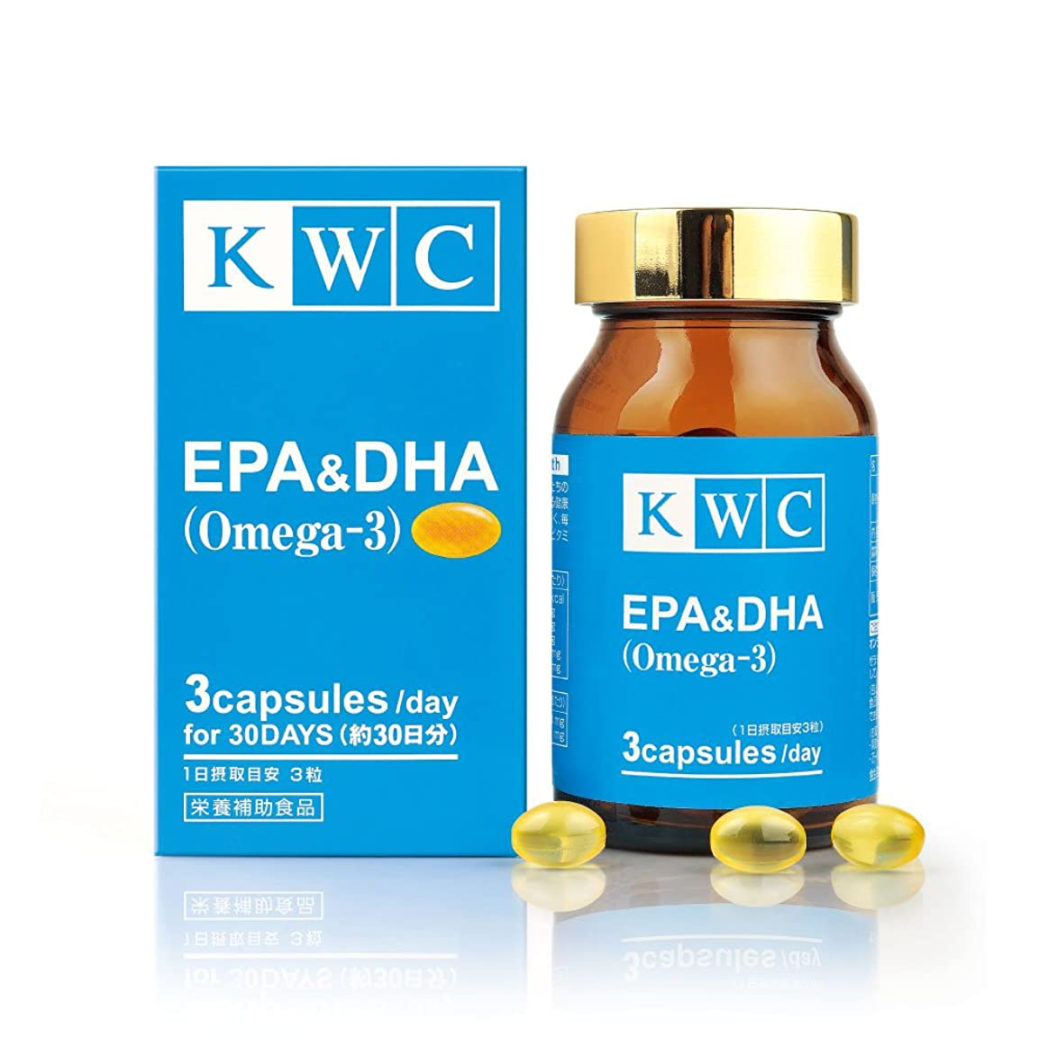 騒腹部幸運なことにKWC EPA&DHA サプリメント 約30日分 90粒