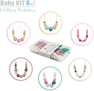 RUBY- Cuentas De Silicona kit Para 6 Collar Lactancia Mordedor Bebé (color pastel) Envio urgente gratis