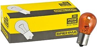 Brehma BAU15s 10 bombillas de intermitente, 12 V, PY21W, color naranja