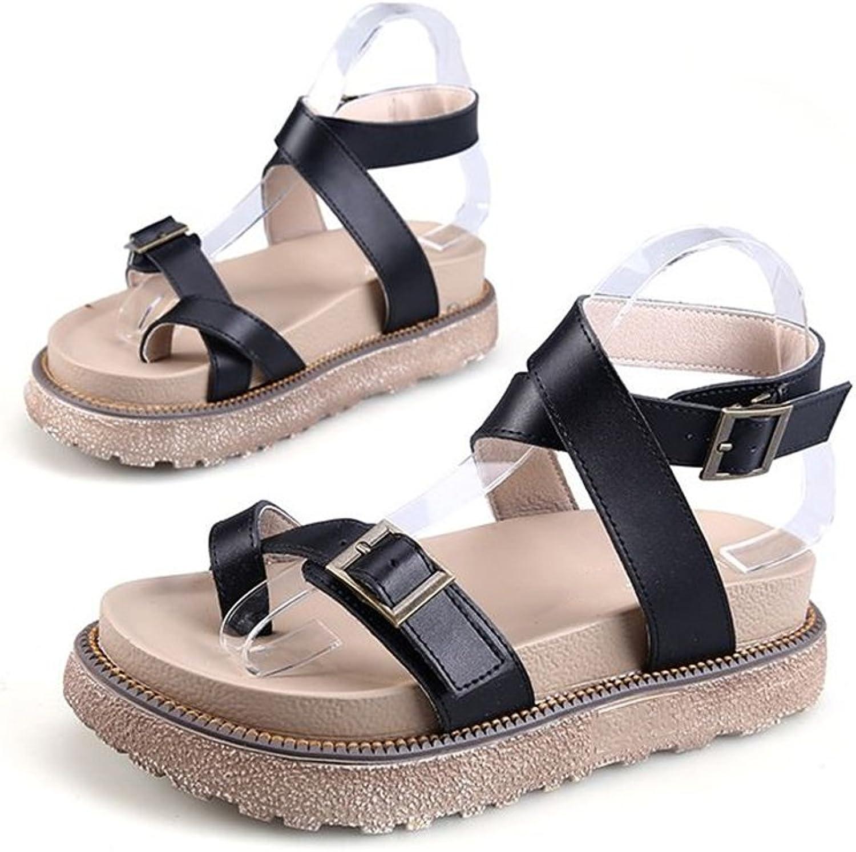 Fancyww Women's Adjustable Ankle Strap -Summer Comfort Open Toe Cute Single Strap Platform shoes