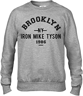 Iron Mike Tyson Brooklyn Boxing Premium Men's Grey Crew Sweatshirt