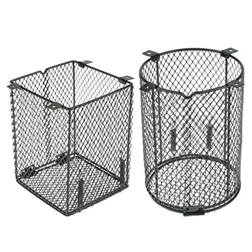 LOVIVER 2 Stück Terrarium Schutzkorb für Wärmelampe