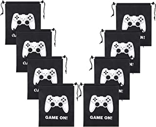 Aresmer Video Game Drawstring Bags Gaming Party Bags for Kids Birthday Party - 12 Pack