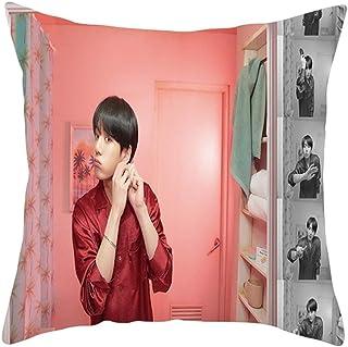01//45 45cm dfhdrtj Multicolore 2020 Neuf Kpop BTS Bangtan Gar/çons Taie doreiller Coussin Housse pour Voiture Canap/é Chambre Salle /à Manger D/écor